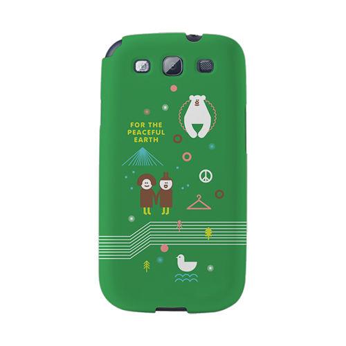 【韓國正品Makase】※EARTH※ SAMSUNG Galaxy S3 i9300 質感手機保護殼 附贈胸針及簡易立架