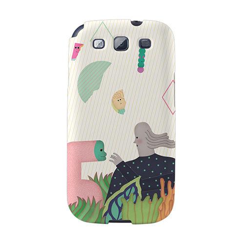 【韓國正品Makase】※Extended Time_A※ SAMSUNG Galaxy S3 i9300 質感手機保護殼 附贈胸針及簡易立架