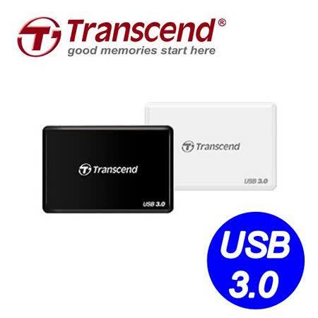 Transcend 創見 F8 USB3.0 多功能讀卡機 (白色/黑色)TS-RDF8