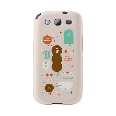 【韓國正品Makase】※FRIENDS※ SAMSUNG Galaxy S3 i9300 質感手機保護殼 附贈胸針及簡易立架