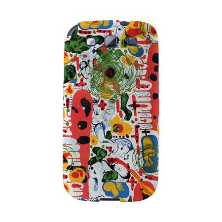 【韓國正品Makase】※guerra_pintura※ SAMSUNG Galaxy S3 i9300 質感手機保護殼 附贈胸針及簡易立架