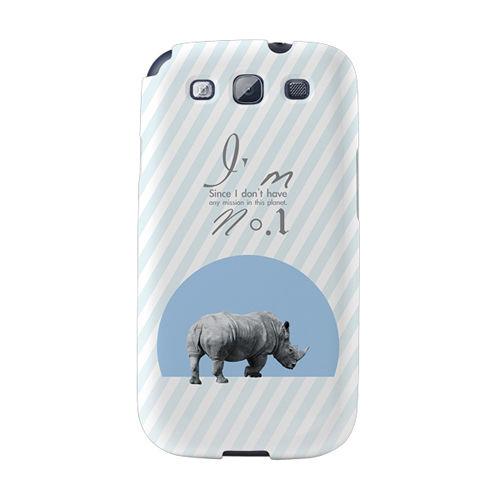 【韓國正品Makase】※I'm NO.1※ SAMSUNG Galaxy S3 i9300 質感手機保護殼 附贈胸針及簡易立架