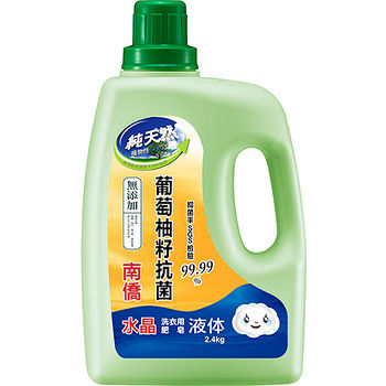南僑水晶肥皂天然抗菌洗衣用液体2.4kg
