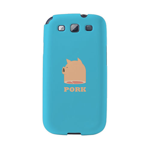 【韓國正品Makase】※Pork※ SAMSUNG Galaxy S3 i9300 質感手機保護殼 附贈胸針及簡易立架