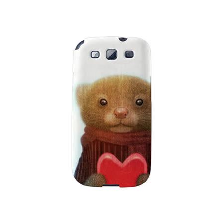 【韓國正品Makase】※Ferret※ SAMSUNG Galaxy S3 i9300 質感手機保護殼 附贈胸針及簡易立架