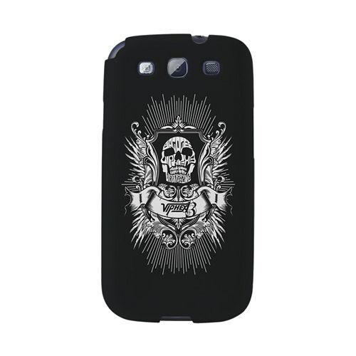 【韓國正品Makase】※BV13_skull※ SAMSUNG Galaxy S3 i9300 質感手機保護殼 附贈胸針及簡易立架