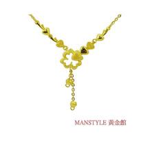 Manstyle 甜蜜花情黃金小套鍊 (約2.13錢)