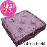 棉花田【晶讚】變色龍立體胖胖墊-紫色(二件組)