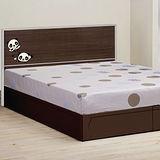 《顛覆設計》卡娃伊熊熊胡桃5尺雙人床頭片+床底(不含床墊)