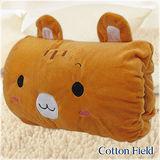 棉花田【小狸貓】可愛造型多功能暖手抱枕(32x25cm)