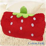 棉花田【草莓】可愛造型多功能暖手抱枕(32x25cm)