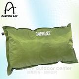 【台灣 CAMPING ACE】野樂超輕自動充氣枕頭(加大款/2入一組)-可調整枕頭高度.可當背部靠墊/ 深綠