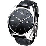 cK 時尚名仕大錶徑男錶-黑