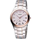 ORIENT 經典扭索狀簡約腕錶-半金 HT72X71
