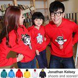 韓版冬款刷毛W48《京劇一家-紅色》長袖親子裝@三件組【預購款】