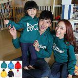 韓版冬款刷毛W38《我的一家-綠色》長袖親子裝@四件組【預購款】