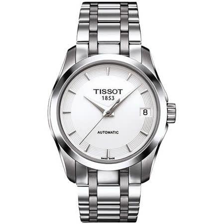 TISSOT T-Trend Couturier Lady 時尚簡約機械腕錶 T0352071101100