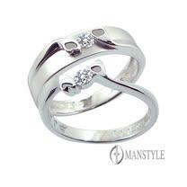 MANSTYLE 愛的蜜語 0.10ct南非天然鑽石對戒