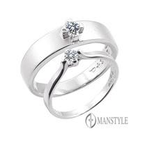 MANSTYLE 愛和承諾 0.10ct南非天然鑽石對戒