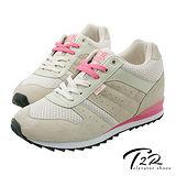 【T2R】玩色系列內增高休閒運動鞋女鞋 5600-0123 卡其 ↑8cm