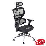 吉加吉 頂級人體工學椅  TW-SLB3 拋光鋁合金黑框黑網 頭枕前置款 主管/電腦椅 外銷重量級