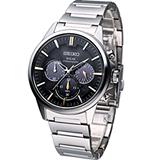 SEIKO 簡約太陽能計時腕錶 V175-0AZ0D  SBPY063G