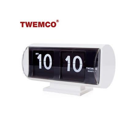 【TWEMCO】復古收藏 圓筒造型翻頁鐘\桌鐘 QT-30T 白色