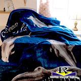 【MOYER ROBER】深藍海豚-雙面長絨保暖厚毛毯