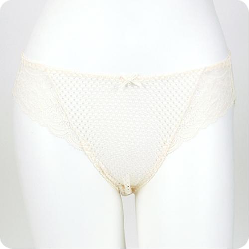 優質百元內褲任選【內衣瞎拼】米黃鏤空內褲
