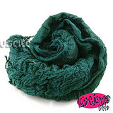 《Lus.G》秋冬金蔥棉麻長圍巾