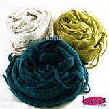 《Lus.G》氣質手工毛線編織流蘇二用圍巾/披肩