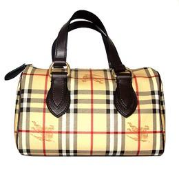 【BURBERRY】英系經典格紋波士頓包
