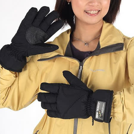 SNOWTRAVEL  防水羽毛手套 2雙(黑色)