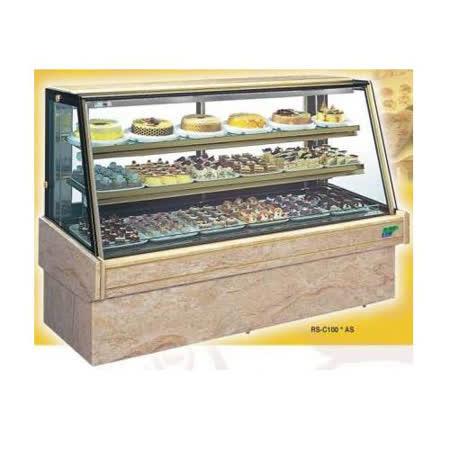 【冷藏4℃蛋糕櫃】4尺 冷藏蛋糕櫃(斜玻大理石) C-104AS
