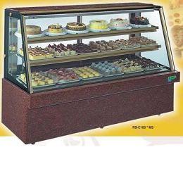 【冷藏4℃蛋糕櫃】5尺 冷藏蛋糕櫃(斜玻大理石) C-105MS