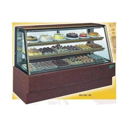 【冷藏4℃蛋糕櫃】6尺 冷藏蛋糕櫃(斜玻大理石) C-106HS