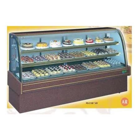 【冷藏4℃蛋糕櫃】7尺 冷藏蛋糕櫃(圓玻大理石) C-107AR