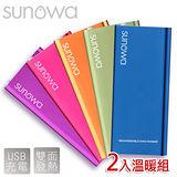【SUNOWA】新潮炫彩口袋充電式掌上型暖暖棒.暖蛋(2入組)