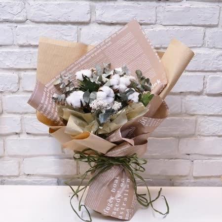 【情人節花束/花禮】白玫瑰玻璃瓶花設計(小資女孩專用)