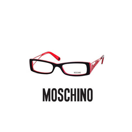 MOSCHINO光學鏡框★LOGO立體簍空設計★搖滾龐克(紅) MO01304