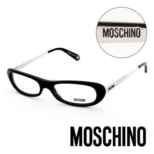 MOSCHINO 義大利 復古金屬 平光眼鏡^(黑^) MO02201