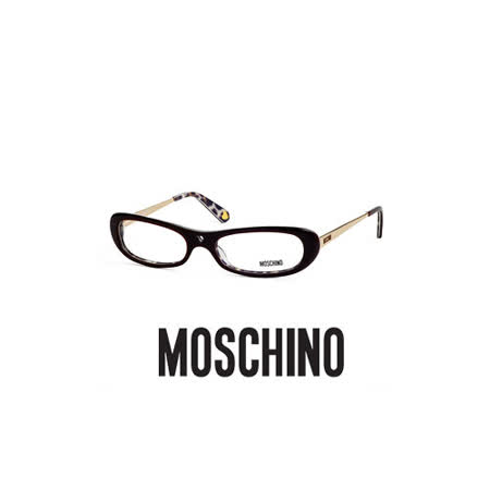 MOSCHINO 時尚光學鏡框★鏤空紅心造型★咖啡 MO02202