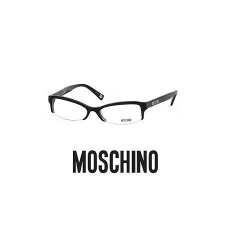 MOSCHINO 時尚光學鏡框★紅心LOGO鉻牌★黑 MO03101