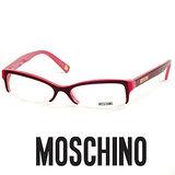 MOSCHINO 時尚光學鏡框★紅心LOGO鉻牌★紅 MO03103