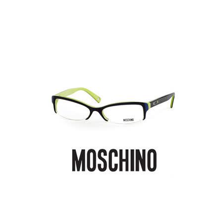 MOSCHINO 時尚光學鏡框★愛心LOGO鉻牌★綠 MO03102