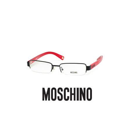 MOSCHINO 時尚光學鏡框★素雅造型鏡腳★紅 MO03702