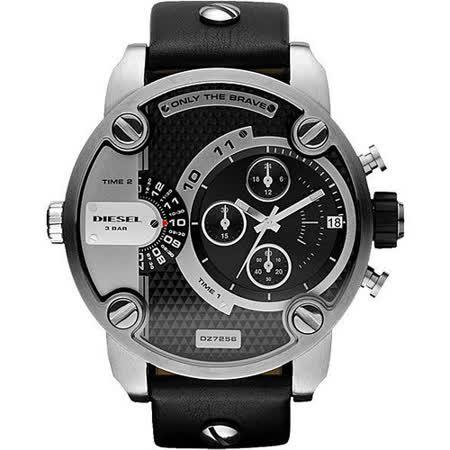 【真心勸敗】gohappy 線上快樂購DIESEL Only The Brave 雙時區計時腕錶(DZ7256)-黑/52mm哪裡買高雄 遠 百 美食