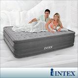 【INTEX】超厚絨豪華圍邊雙人加大充氣床(內建電動幫浦)
