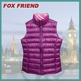 【Fox Friend】新上市 超輕羽絨背心_女款 / 輕薄有型.保暖不臃腫.保暖性佳/ 0162 紫色