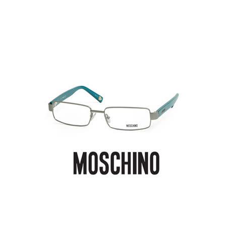 MOSCHINO 時尚光學鏡框★金屬框面★藍 MO03803